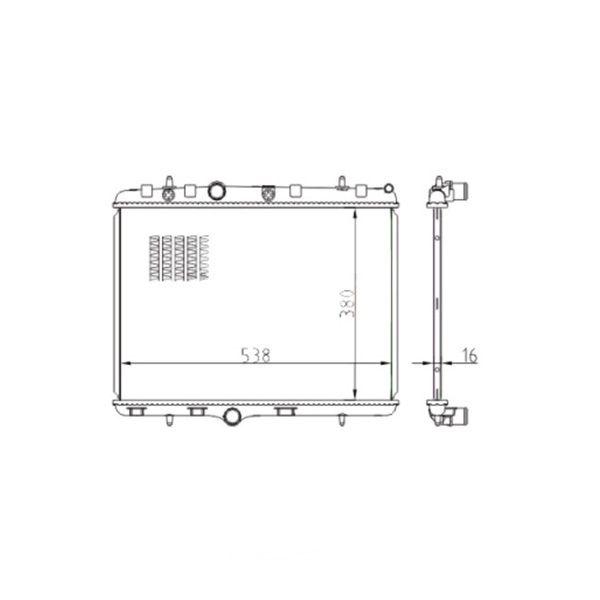 Radiador Citroen C3 Aircross Picasso Com Ar Manual e Automático 2011 a 2018