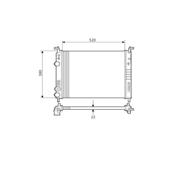 Radiador Fiat Idea Palio Siena Strada 1.4 1.8 Com Ar / Sem Ar 2001 a 2017