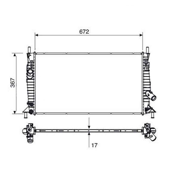 Radiador Ford Focus 1.6 1.8 2.0 Com Ar / Sem Ar Manual e Automático 2009 a 2013