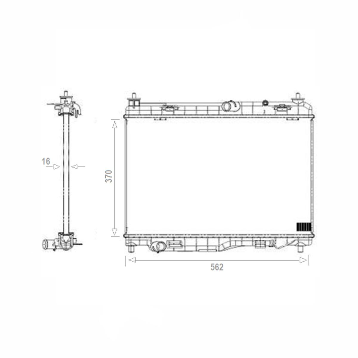 Radiador de Água Ford Ecosport 12/17 Ka/Ka+ Flex 15/18 C/S/AR Manual/Automático