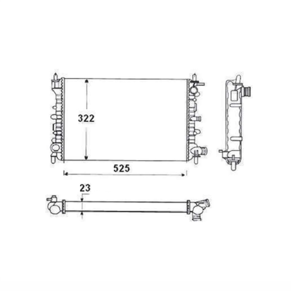 Radiador de Água Ford Escort 93/96, Volkswagen - Logus 93/96, Pointer 94/96 S/Ar Manual