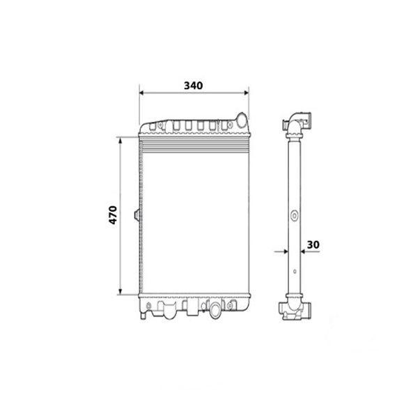 Radiador Gol / Parati G2 G3 G4 1.0 Sem Ar Manual 1997 a 2008 Visconde
