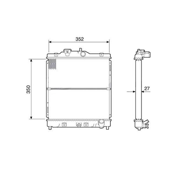 Radiador Honda Civic 1.6 Com Ar Manual 1992 a 2000