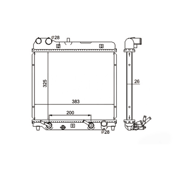 Radiador Honda Fit 1.4 1.5 16V Com Ar Manual / Automático 2003 a 2008