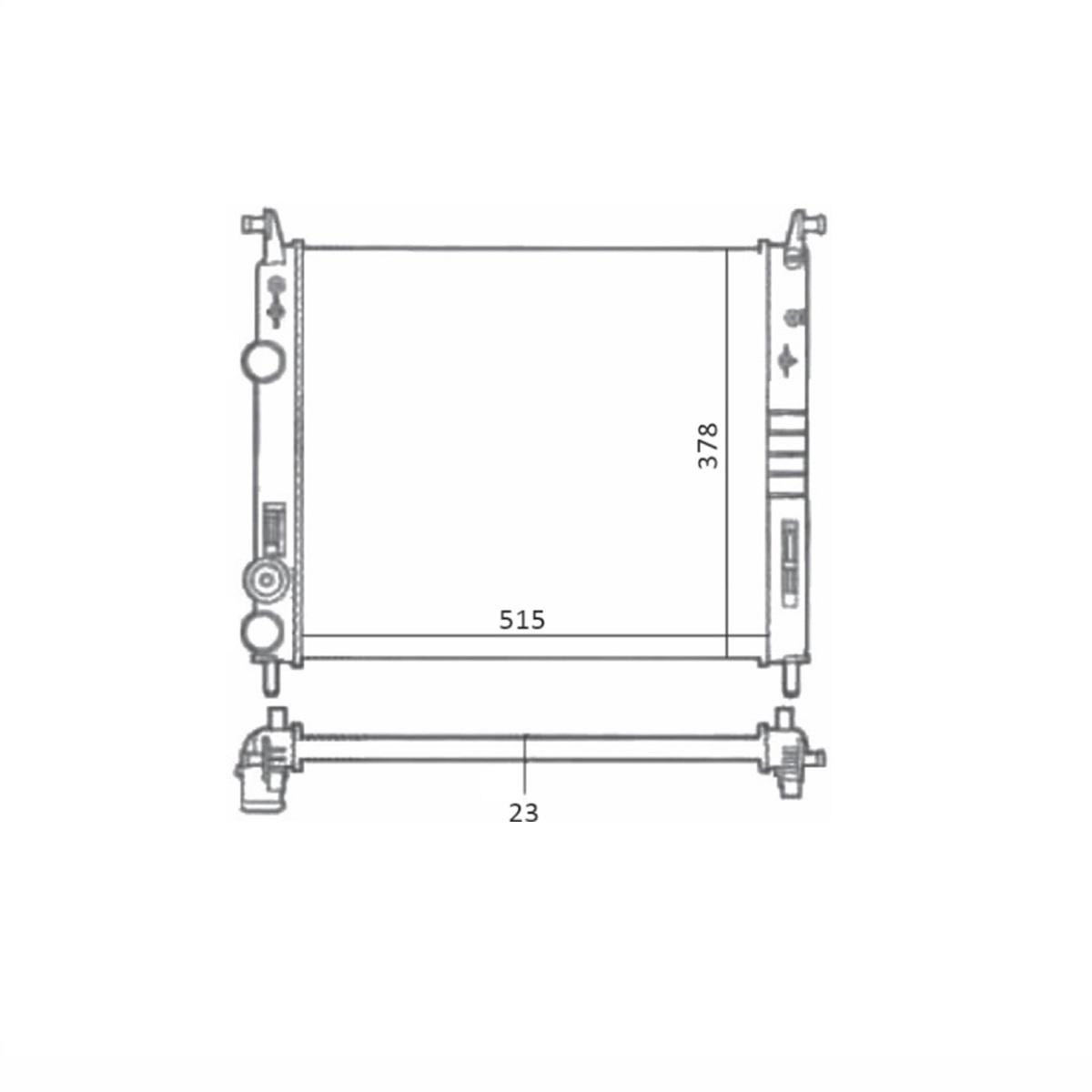 Radiador de Água Idea Palio Siena Strada C/S/Ar Manual 2001/2017