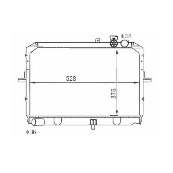 Radiador Kia Besta 2.7 8V Diesel Com Ar / Sem Ar Manual 1998 a 2005