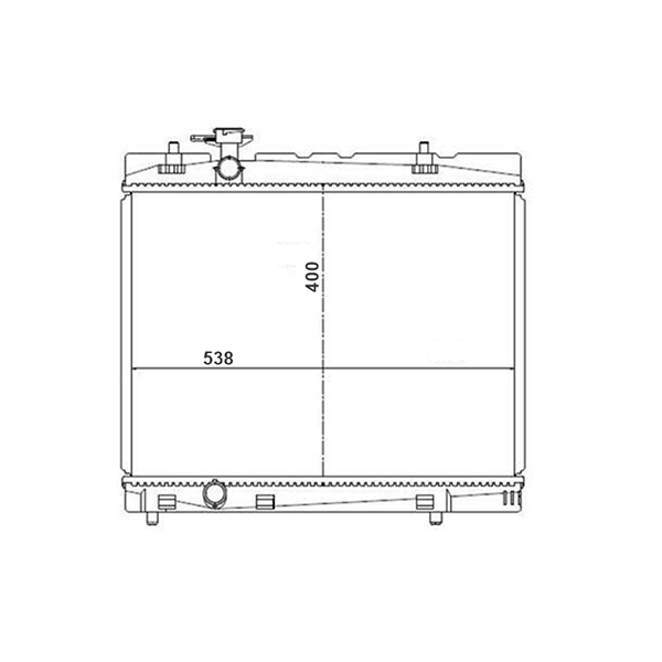 Radiador Toyota Etios 1.3 1.5 16V Flex Com Ar Manual 2012 a 2016