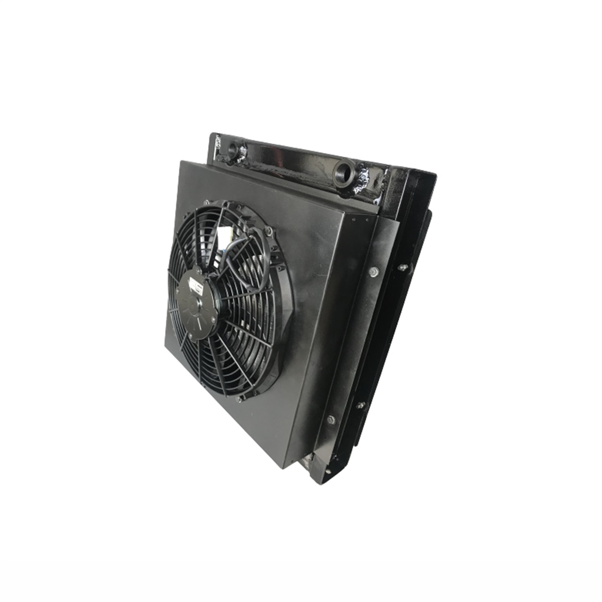 Radiador de Óleo Universal Alta Pressão Para Adaptação Completo Com Grade + Defletor + Ventoinha