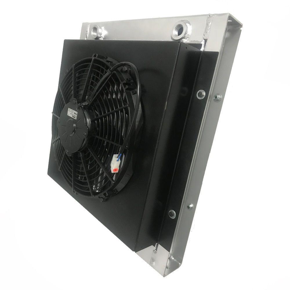 Radiador de Óleo Universal Para Adaptação Completo Com Grade + Defletor + Ventoinha