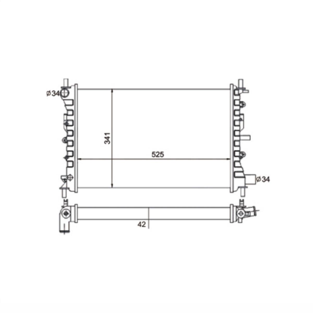 Radiador Escort Logus Pointer Com Ar / Sem Ar Manual 1993 a 1996