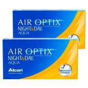 Kit com 2 caixas de Lentes de Contato Night & Day Aqua Air Optix