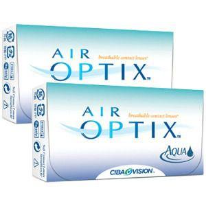 Kit com 2 caixas de Lentes Air Optix Aqua + brinde