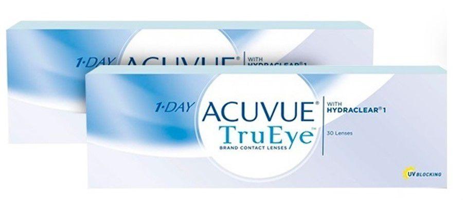Kit de Lentes de Contato com 2 caixas: Acuvue 1-Day TruEye