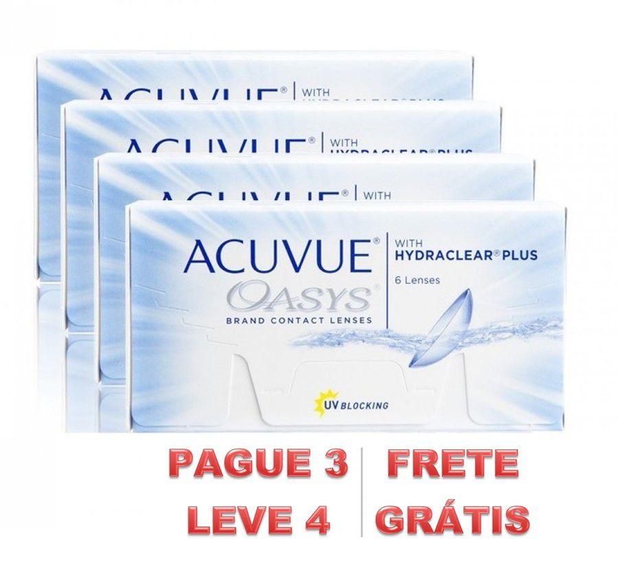 e97af5ee9f7b6 Kit de Lentes de Contato com 4 caixas  Acuvue Oasys Visolux Web ...