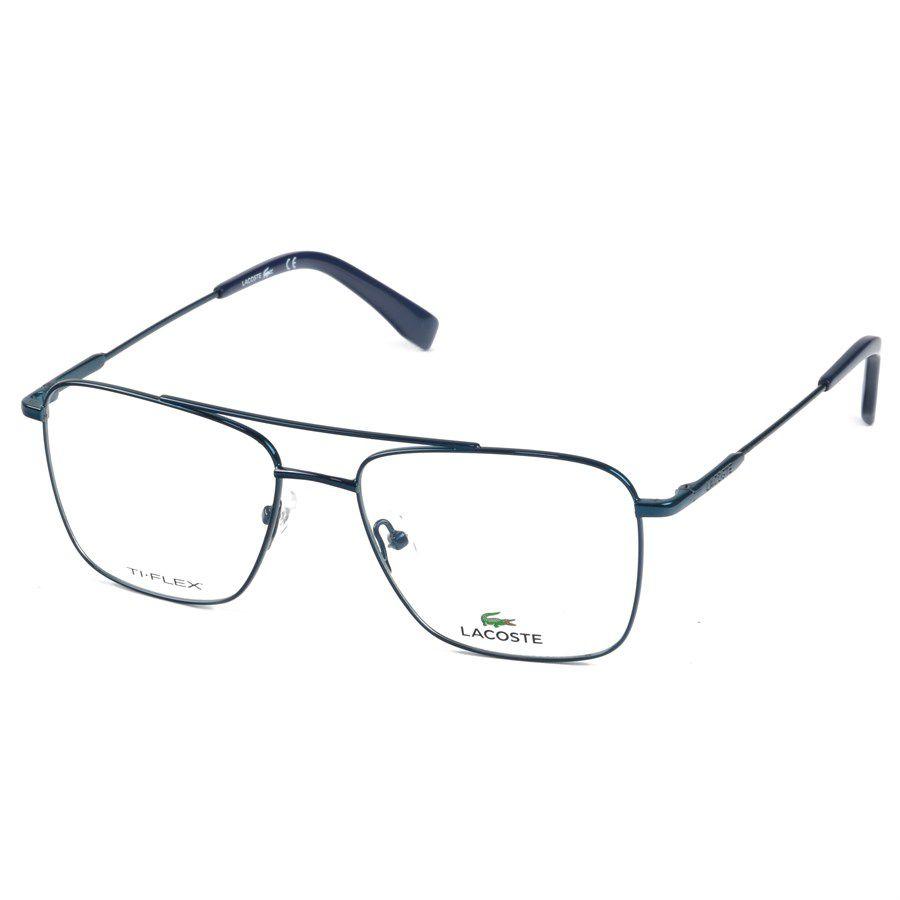 1bc6213e06bdc Lacoste L2229 Óculos de Grau Titanium Flexível Masculino Visolux Web ...