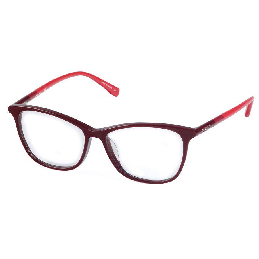 1b09f1c1783fc Lacoste L2751 Óculos de Grau Acetato Feminino Visolux Web - Lentes ...
