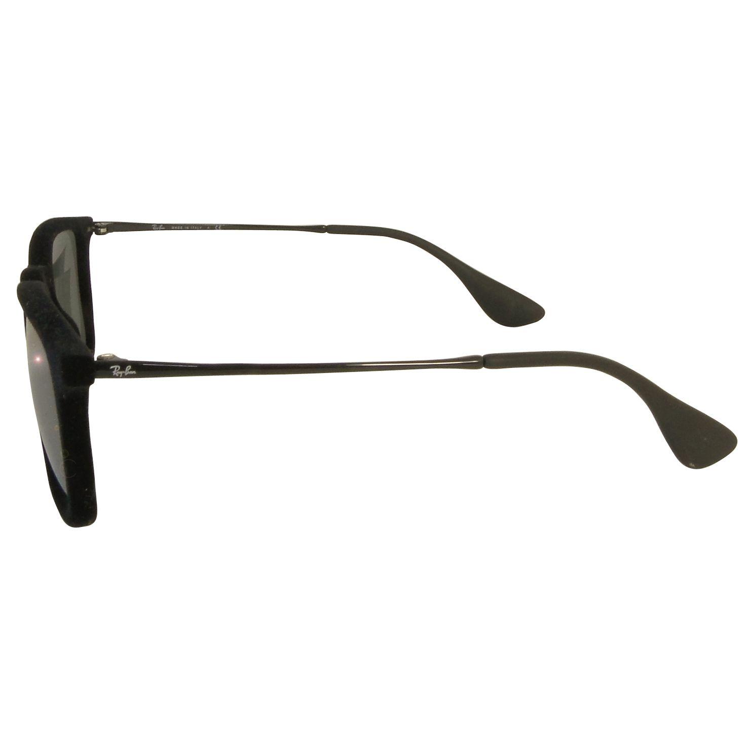 a02410108e ... Óculos de Sol Ray Ban Chris RB4187 Aveludado Preto Lente Espelhada  Acetato Unissex