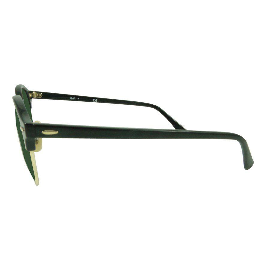 16b91aad2 ... Óculos de Sol Ray-Ban Clubmaster Clubround Classic Preto Lente Verde  Clássica RB4246