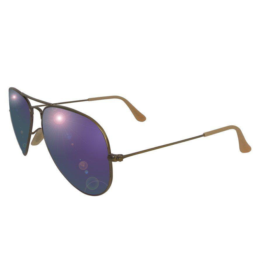 0dd0e4fe7 Óculos de Sol Ray Ban RB3025 Aviador Metal Unissex - Espelhado ...