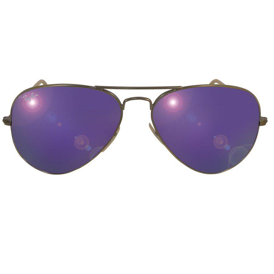 fa6884241 ... Óculos de Sol Ray Ban RB3025 Aviador Metal Unissex - Espelhado ...