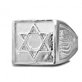 Anel Estrela de Davi 8g (Banho Prata 925)