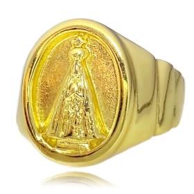 Anel Nossa Senhora Aparecida 7g (Banho Ouro 24k)