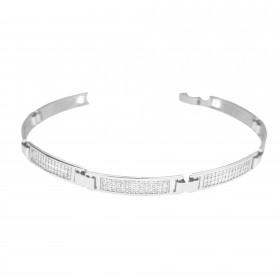 Bracelete Cravejado em Zircônia 5mm 7,5g (Banho Prata 925)