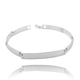 Bracelete Liso 6mm (8,4g) (Banho Prata 925)