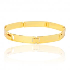 Bracelete Liso 7mm (10g) (Banho Ouro 24k)