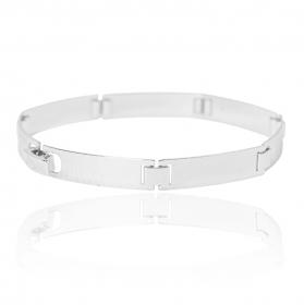 Bracelete Liso 7mm (10g) (Banho Prata 925)