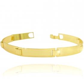 Bracelete Liso 9mm (12,2g) (Banho Ouro 24k)