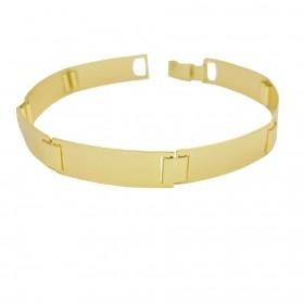 Bracelete Liso 9mm 12g (Banho Ouro 24k)