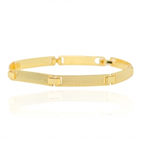 Bracelete Texturizado 5mm (Banho Ouro 24k)