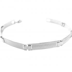 Bracelete Texturizado 5mm (Banho Prata 925)