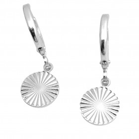 Brinco Argola Circulo Diamantado (Banho Prata 925)