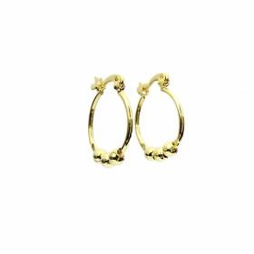 Brinco Argola P Click Esferas (Banho Ouro 24k)