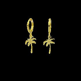 Brinco Argola Palmeira (Banho Ouro 24k)