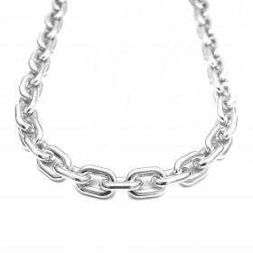 """Choker/ Colar """"Chain"""" 40cm 10mm (Banho Prata 925)"""