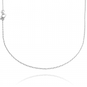 Colar Carrier Cadeado 1,2mm 40cm (Fecho Tradicional) (Banho Prata 925)