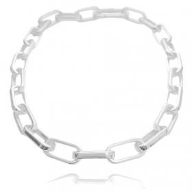 """Colar """"Chain"""" 45cm 12mm (19g) (Banho Prata 925)"""
