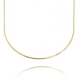 Colar Rabo De Rato Quadrada 1,2mm 40cm (Fecho Tradicional) (Banho Ouro 24k)