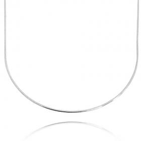 Colar Rabo De Rato Quadrada 1,2mm 40cm (Fecho Tradicional) (Banho Prata 925)
