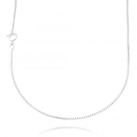 Colar Veneziana 1,2mm 40cm (Fecho Tradicional) (Banho Prata 925)