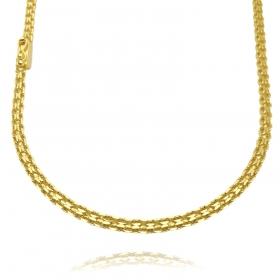 Corrente Cadeado Duplo 3,5mm 60cm 13g (Fecho Gaveta) (Banho Ouro 24k)