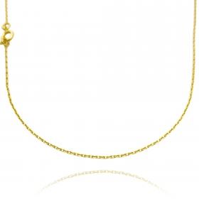 Colar Carrier Cadeado 1,2mm 40cm (Fecho Tradicional) (Banho Ouro 24k)