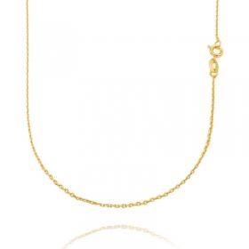 Colar Carrier Cadeado 1,2mm 40cm (Fecho Tradicional) (TAG) (Banho Ouro 24k)