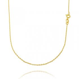 Corrente Carrier Cadeado 1,2mm 60cm (Fecho Tradicional) (TAG) (Banho Ouro 24K)