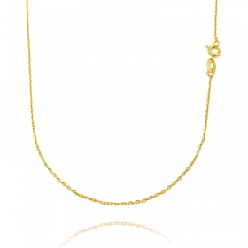 Corrente Carrier Cadeado 1,2mm 70cm (Fecho Tradicional) (TAG) (Banho Ouro 24K)
