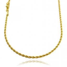 Corrente Cordão Baiano 2,5mm 70cm (13g) (Fecho Canhão) (Banho Ouro 24k)