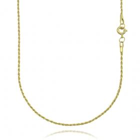 Corrente Cordão Baiano Diamantado 1,8mm 70cm (Fecho Tradicional) (SEM TAG) (Banho Ouro 24K)